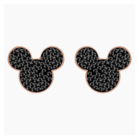 Kolczyki sztyftowe Mickey & Minnie, czarne, w odcieniu różowego złota Swarovski