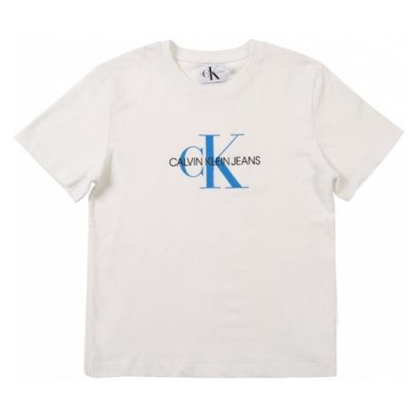 Calvin Klein Jeans Koszulka 'MONOGRAM LOGO' niebieski / biały