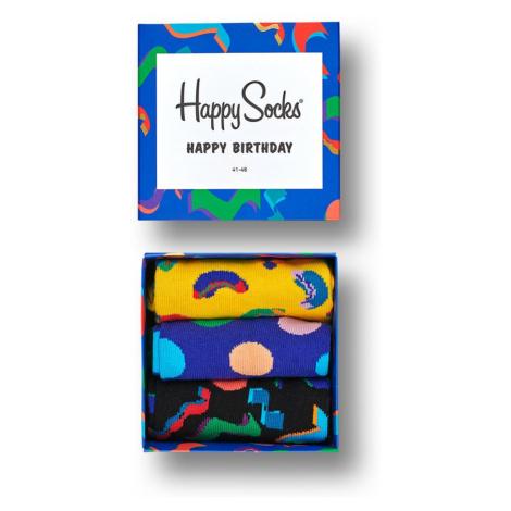 Happy Socks - Skarpety Gift Box urodzinowy (3-pak)