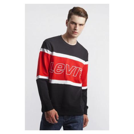 Bluza Levi's Pieced Crewneck Sweatshirt 0000 Black Levi´s