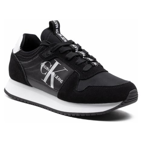 Sneakersy CALVIN KLEIN JEANS - Runner YW0YW00075 Black BDS
