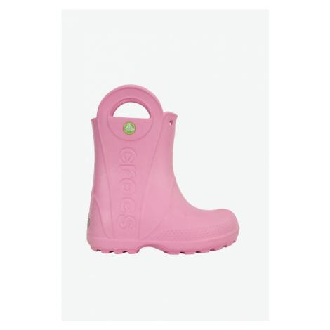 Kalosze Crocs Handle Rainboot Kids 12803-6I2 Carnation Pink