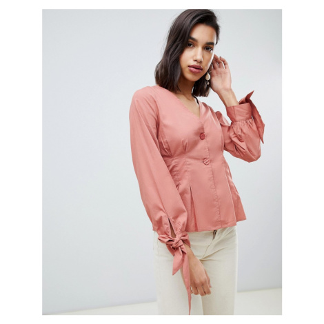 Vero Moda volume tie sleeve blouse