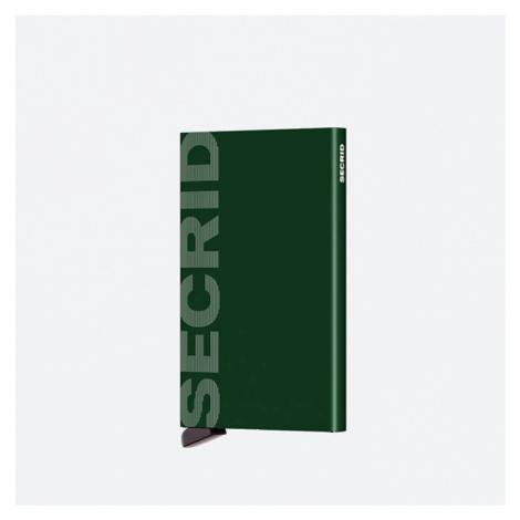 Portfel Secrid Cardprotector Laser CLA-LOGO GREEN