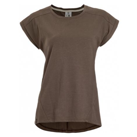 Bawełniany T-shirt Damski | Khaki Sutura Fuscus Woox