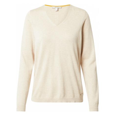 ESPRIT Sweter szarobeżowy