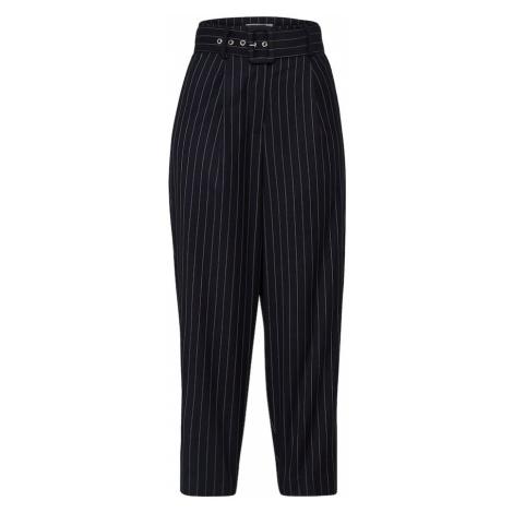 EDITED Spodnie 'Justine' niebieska noc / biały
