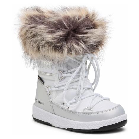 Śniegowce MOON BOOT - Mb Jr Girl Monaco Low Wp 34052400001 M White/Silver
