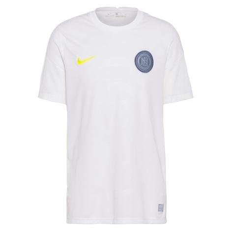 NIKE Koszulka funkcyjna 'FC' biały / neonowo-żółty