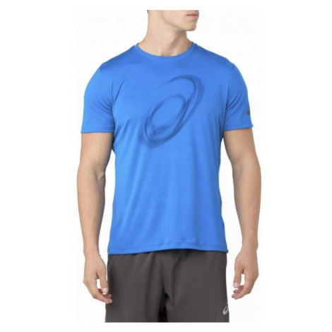 Asics SILVER SS TOP GRAPHIC niebieski L - Koszulka do biegania męska