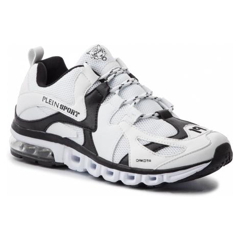 Sneakersy PLEIN SPORT - Runner Original P19S MSC2111 STE003N White/Black 0102
