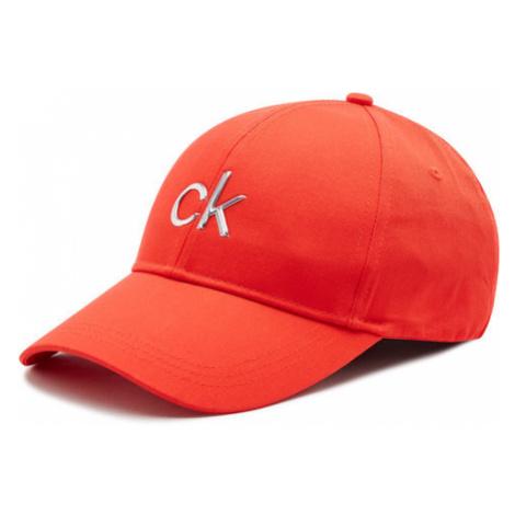 Calvin Klein Czapka z daszkiem Bb Cap K60K607986 Czerwony