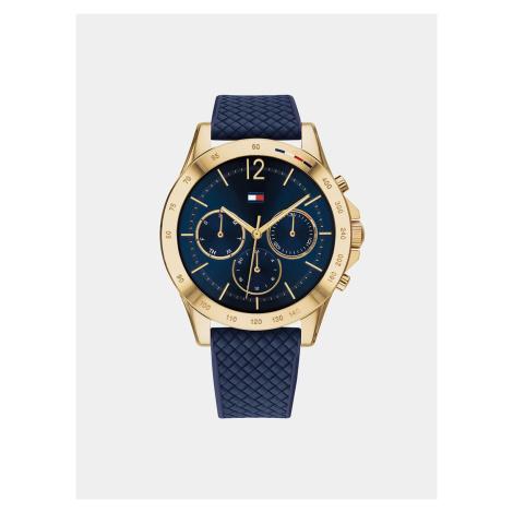 Zegarek damski Tommy Hilfiger z silikonowym paskiem w kolorze niebieskim