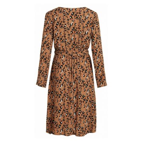 VILA Sukienka 'KITTIE' brązowy / czarny / biały