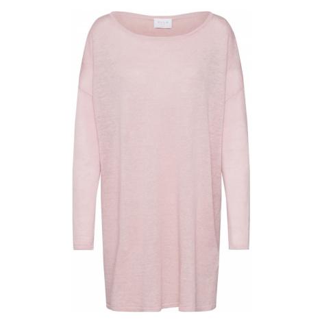 VILA Sweter oversize różowy pudrowy