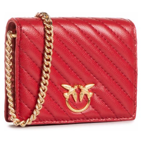 Torebka PINKO - Jolie Credit Card Holder V Quilt AI 20-21 PLTT 1P21U6 Y6KT Ruby Red R72