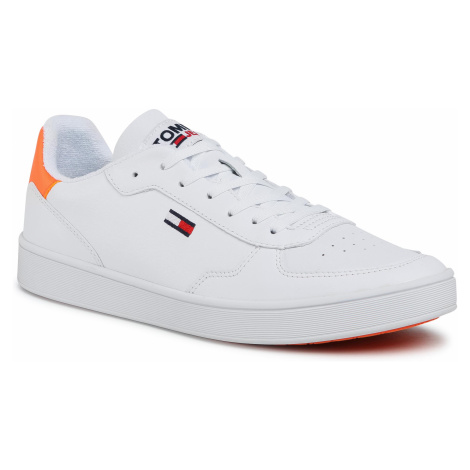 Sneakersy TOMMY JEANS - Essential Cupsole EM0EM00573 Solar Flare SN3 Tommy Hilfiger