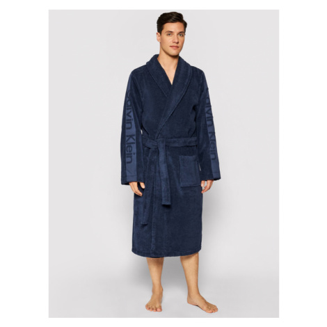 Calvin Klein Underwear Szlafrok 000EM1159E Granatowy