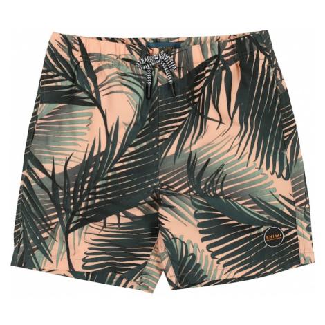 Shiwi Kąpielówki 'boys swimshort foliage' brzoskwiniowy / zielony