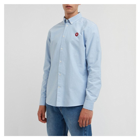 Koszula męska Wood Wood Ted Double A 10005301-1082 LIGHT BLUE