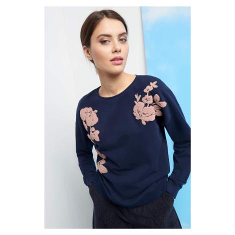 Bluza z kwiatową aplikacją Orsay
