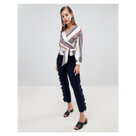 Closet London Smart Tailored Trouser with Frill Detail