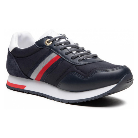 Tommy Hilfiger Sneakersy Casual City Runner FW0FW05560 Granatowy
