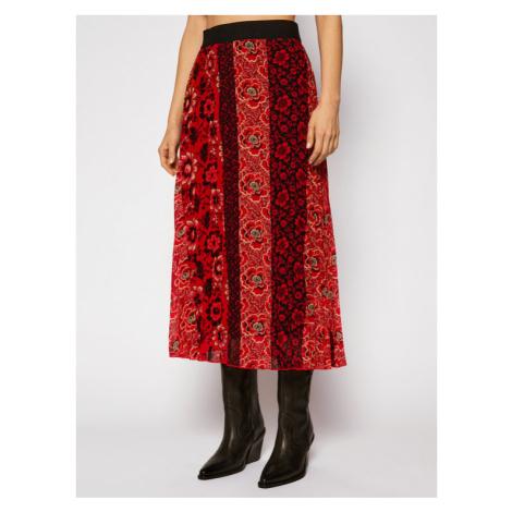 Desigual Spódnica plisowana Rosal 20WWFW23 Czerwony Regular Fit