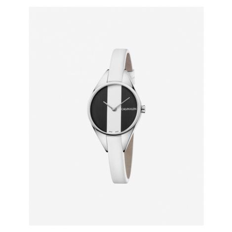 Calvin Klein Rebel Zegarek Biały Srebrny