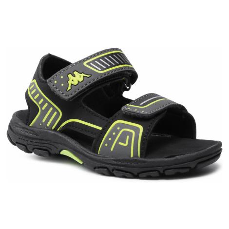 Sandały KAPPA - Paxos K 260864K Black/Lime 1133