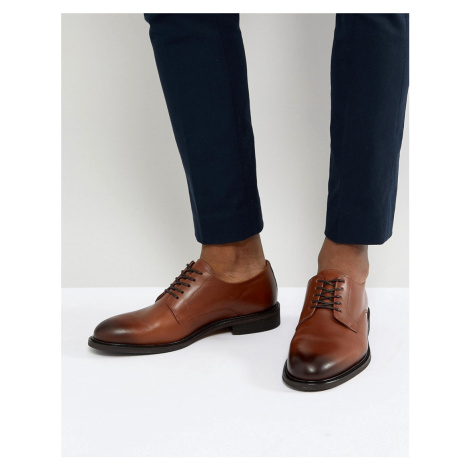 Selected Homme leather derby shoes in brown