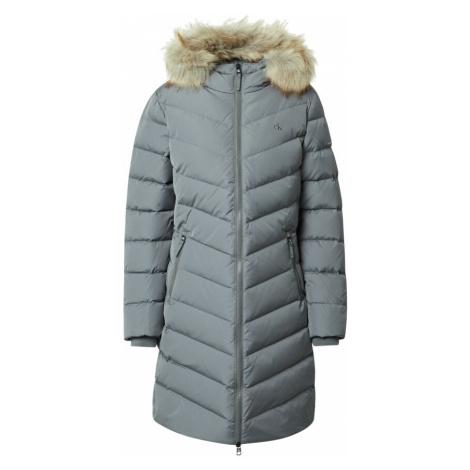 Calvin Klein Jeans Płaszcz zimowy szary