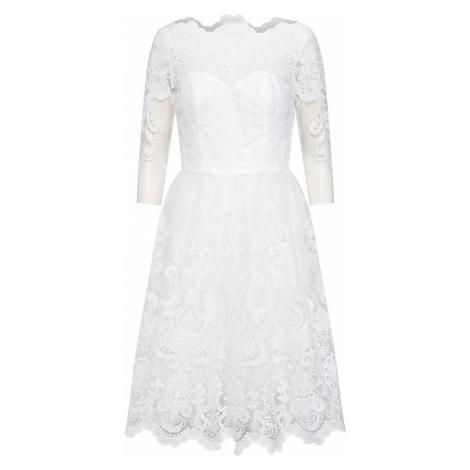 Chi Chi London Sukienka koktajlowa 'CHI CHI FLORA' biały