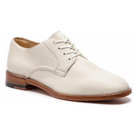 Oxfordy CLARKS - Ellis Scarlett 261418854 White Leather