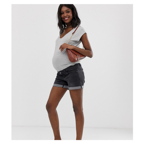 Bandia Maternity roll hem short with removable band