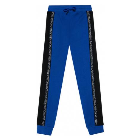 Calvin Klein Jeans Spodnie dresowe Colour Block IB0IB00866 Niebieski Regular Fit