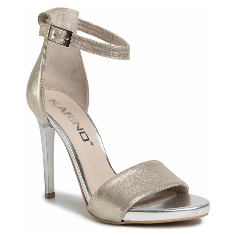 Sandały KARINO - 3236/074-P Złoty