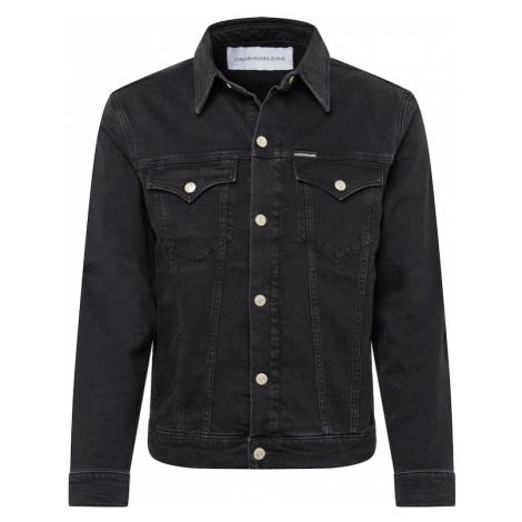 Calvin Klein Jeans Kurtka przejściowa 'FOUNDATION SLIM DENIM JACKET' czarny