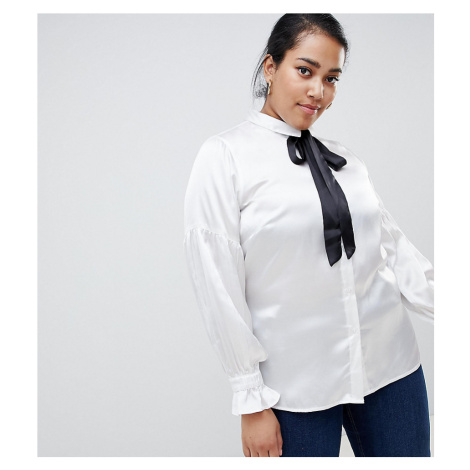 Junarose contrast bow blouse
