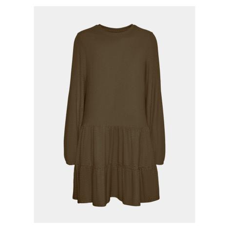 Vero Moda khaki luźna sukienka