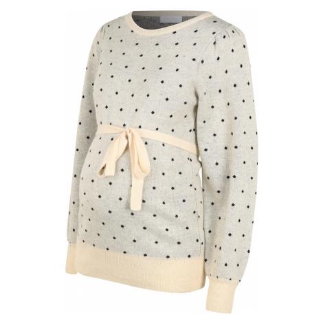 MAMALICIOUS Sweter jasnoszary / różowy pudrowy / czarny Mama Licious