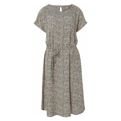 JACQUELINE de YONG Sukienka 'JDYSTARR LIFE S/S BELT DRESS WVN' piaskowy / czarny