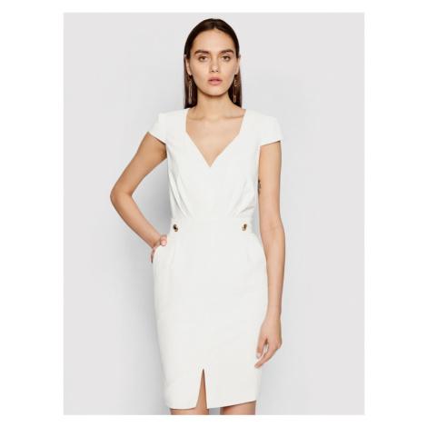 Marciano Guess Sukienka koktajlowa 1GG742 9529Z Biały Slim Fit