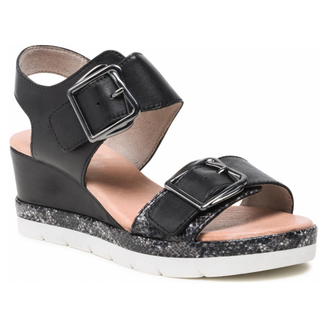 Sandały JANA - 8-28315-34 Black 001