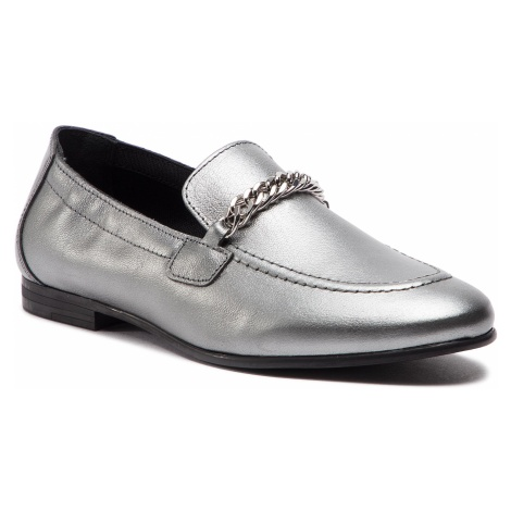 Lordsy TOMMY HILFIGER - Rubberized Chain Heeled Sandal FW0FW03891 Light Silver 016