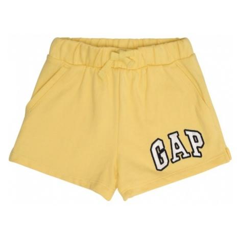 GAP Spodnie 'V-LOGO SHORT' żółty