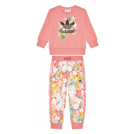 Adidas Dres HER Studio London Floral Crew Set GN2256 Różowy Standard Fit