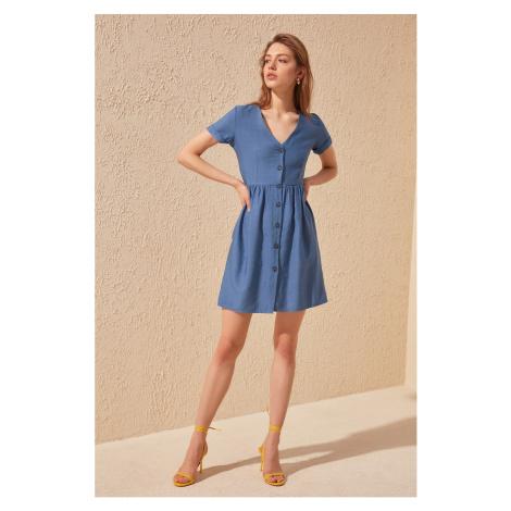 Suknia koszulowa Trendyol Indigo