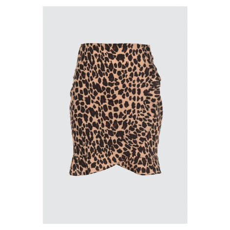 Modyol Leopard Print Tkana spódnica Trendyol