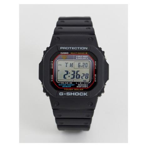 G-Shock digital 5600 Black red case details watch Casio